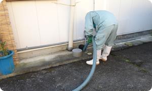 し尿や浄化槽汚泥の収集運搬、トイレ汲み取り